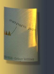 Weingut Rainer Wess - Grüner Veltliner Pfaffenberg 2007
